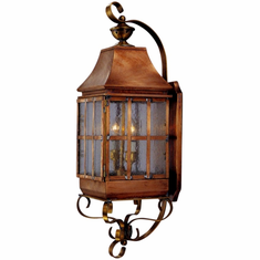 Weston Wall Mount Copper Lantern with Bracket