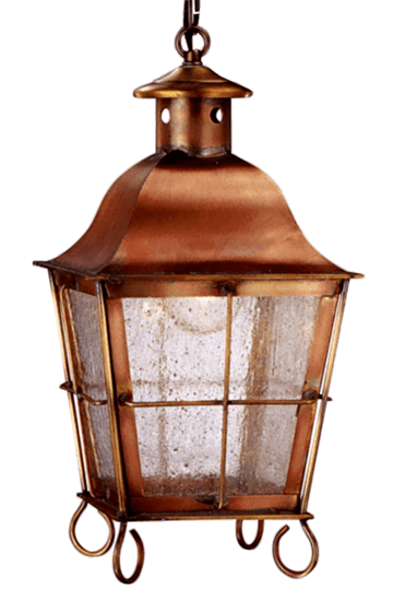 Windsor Pendant Style Hanging Copper Lantern