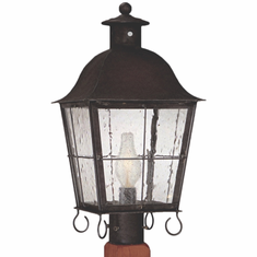 Windsor Post Light Outdoor Copper Lantern
