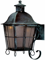 Windsor Wall Mount Copper Lantern with Bracket