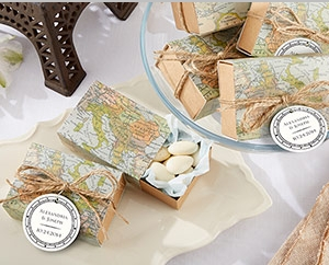 """Around the World"" Map Favor Box (Set of 24) "" title=""""Around the World"" Map Favor Box (Set of 24)"