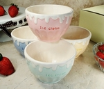 Ceramic Ice Cream Bowl - Set of 4 - Assorted Colors - OUT OF STOCK 'TIL 5/20/18