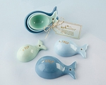 Ceramic Whale Shaped Measuring Spoons