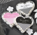 """Clearly in Love"" Heart Acrylic Favor Boxes"