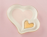 Double Heart Trinket Dish