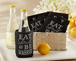 """Eat, Drink & Be Married"" Collapsible Cold-Can Koozie (Set of 12)"