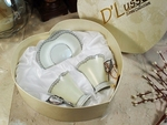 Espresso Cup and Saucer Set in Heart Box