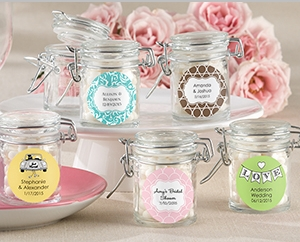 Glass Favor Jars - Religious (Set of 12) Available Personalized)
