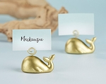 Gold Whale Place Card Holder (Set of 6)