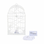Modern Decorative Birdcage with Birds in Flight  - White or Ivory