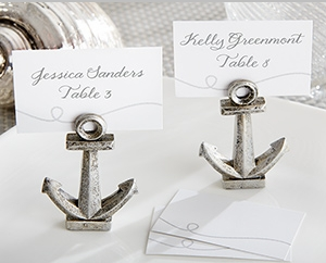 """Nautical"" Anchor Place Card/Photo Holder (Set of 6) "" title=""""Nautical"" Anchor Place Card/Photo Holder (Set of 6)"