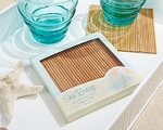 """Sea Breeze"" Bamboo Coasters (Set of 4)"