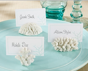 """""""Seven Seas"""" Coral Place Card/Photo Holder (Set of 6)"""" title=""""""""Seven Seas"""" Coral Place Card/Photo Holder (Set of 6)"""