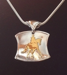 "22Kt. GOLD  & SILVER  DRESSAGE NECKLACE - ""THE WELLINGTON "" **Featured in  USDF  ""Rider's Market""  ** TEMPORARILY SOLD OUT"
