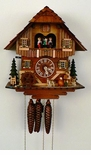 Musical Chalet Cuckoo Clock Accordian Player