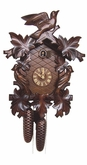 ANTIQUE CUCKOO CLOCK  LEAF & BIRD 8 DAY MOVEMENT