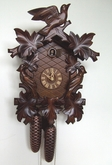 ANTIQUE CUCKOO CLOCKS LEAVES AND BIRDS 8 DAY MOVEMENT
