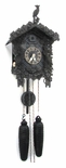 Unique Cuckoo Clock Rare Black Arenga wood 8 Day