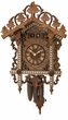Bahnh�usle Chalet Cuckoo & Quail Call Clock Double Door Design