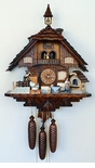 8 Day Chalet Musical Cuckoo Clock Baker & Wheat Grinder