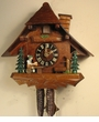 "CHALET CUCKOO CLOCK:  8"" BEER DRINKER  1 DAY MOVEMENT"