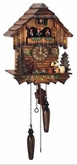 QUARTZ CUCKOO CLOCK MUSICAL BEER DRINKER  WITH DANCERS