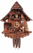 "UNIQUE CHALET CUCKOO CLOCK:  14"" BEER DRINKER & DANCERS 1 DAY MOVEMENT  MUSICAL"