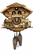 "QUARTZ CUCKOO CLOCK 12"" BEER DRINKER w/ DANCERS  MUSICAL"