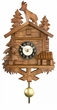 Quartz Novelty Clock  Chalet with Billy Goat on Roof