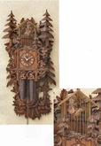 "UNIQUE CUCKOO CLOCK 30 "" BIRDCAGE  8 DAY MOVEMENT"