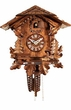 "UNIQUE  CHALET CUCKOO CLOCK:  10"" BLACK FOREST CHALET 1 DAY MOVEMENT"