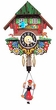 "Black Forest Chalet Clock: 5"" Bouncing Black Forest Girl"