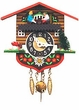 "Black Forest Chalet Clock 4"" Boy & Girl"