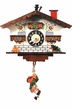 "Black Forest Chalet Clock: 6"" Swinging Black Forest Boy"