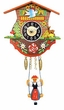 "Black Forest Chalet Clock: 5"" Swinging Black Forest Girl"