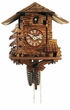 "CHALET CUCKOO CLOCK:  10"" BLACK FOREST COTTAGE  1 DAY MOVEMENT"