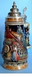 Black Forest Cuckoo Clock Peddler German Beer Stein