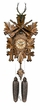 "BLACK FOREST CUCKOO CLOCKS 15"" LEAF & DEER CROWN  8 DAY MOVEMENT"