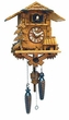 "QUARTZ MUSICAL CUCKOO CLOCK:  11"" BLACK FOREST SCENE"