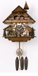 "CHALET CUCKOO CLOCKS:  13"" BLACK FOREST WOMAN  8 DAY MOVEMENT"