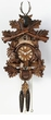 "BLACKFOREST CUCKOO CLOCK:  16"" HUNTER w/ ANIMALS  1 DAY MOVEMENT"