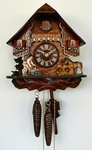 GERMAN MADE  CUCKOO CLOCK BLACKSMITH AND HORSE