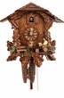 "UNIQUE CHALET CUCKOO CLOCK:  10"" BEER DRINKER  1 DAY MOVEMENT"