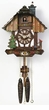 "CHALET CUCKOO CLOCK:  9"" CHIMNEYSWEEP  1 DAY MOVEMENT"