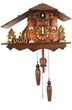 "UNIQUE  CHALET QUARTZ CUCKOO CLOCK:  10"" CLASSIC CHALET w/ DANCERS  MUSICAL"