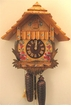 "CHALET CUCKOO CLOCKS:  12"" CLASSIC CHALET w/ FLOWERS  8 DAY MOVEMENT"