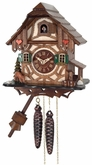 One (1) Day Cuckoo Clock  Cottage with Deer  and Water Pump