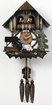 "CHALET CUCKOO CLOCK:  12"" COTTAGE w/ WATERWHEEL  1 DAY MOVEMENT"