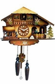 "CHALET CUCKOO CLOCK 9"" DANCERS  MUSICAL & QUARTZ"