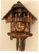 "CHALET CUCKOO CLOCK  12"" DANCERS  w/ PAINTED FLOWERS  1 DAY MOVEMENT"